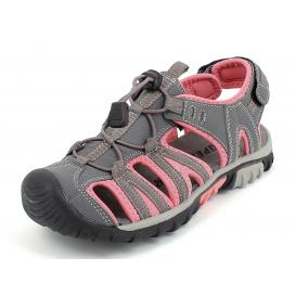ŽENSKI SANDALI SUPER GEAR  A9566 GREY/PINK